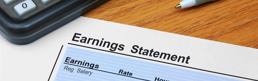 Earnings payroll processing